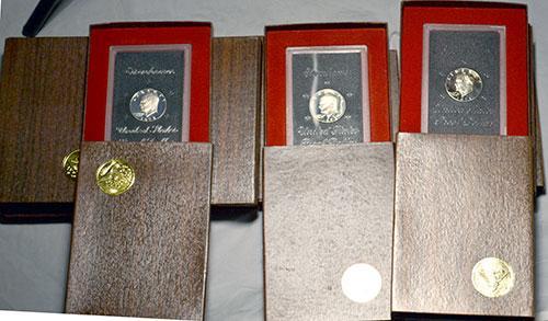 10 Better Brown Box Ike Silver Dollars
