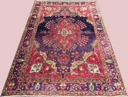 Inspiring 1950s Authentic Hand Woven Vintage Royal Persian Rug