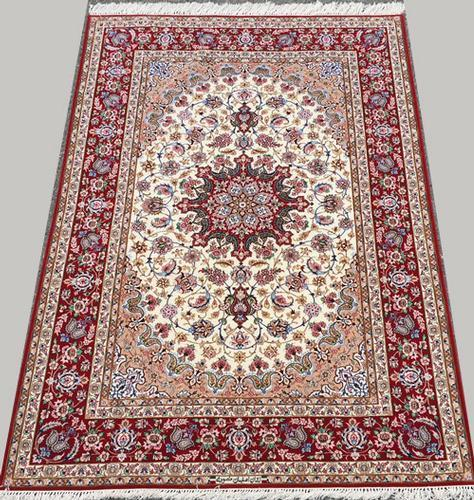 Darling Signed Fine Authentic Hand Woven Part Silk Royal Persian Isfahan