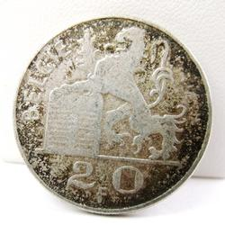 1951 Belgie 20 Cent Silver Coin