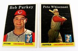 2 Topps 1950's Cincinnati Redlegs Baseball Cards