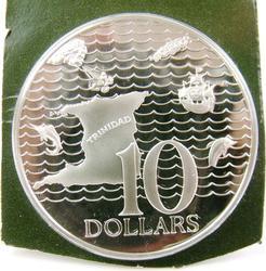10 Dollar 1977 Proof Sterling Coin, Trinidad/Tobago