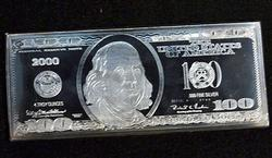 Four Ounce Fine Silver $100 Note