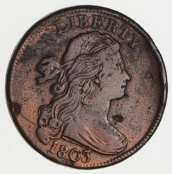 1803 Draped Bust Large Cent- Circulated