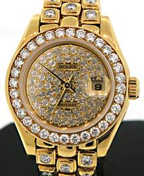 Rolex 18K Gold Diamond Masterpiece