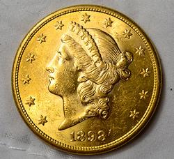 1898-S $20 US Gold Liberty