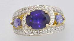 Quality Man Made Sapphire Ring on Vermiel