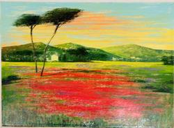 Gorgeous Mario Soave Original Oil On Canvas