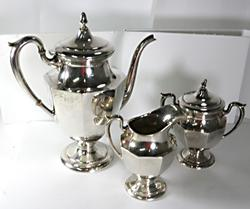 Fisher Colonial Sterling Tea Set