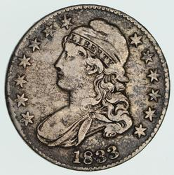 1833 Capped Bust Half Dollar - Circulated