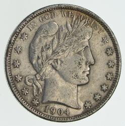 1904-O Barber Half Dollar - Circulated