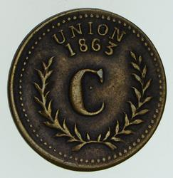 1863 Union / Eureka Good For 10 Civil War Token - Circulated