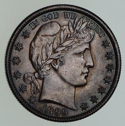 1899-O Barber Half Dollar - Not Circulated