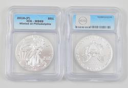 (20) MS69 2016-(P) American Silver Eagle Dollar - Philadelphia ICG Graded