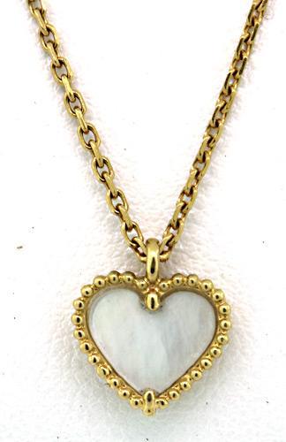 Graceful Van Cleef & Arpels MOP Heart Necklace