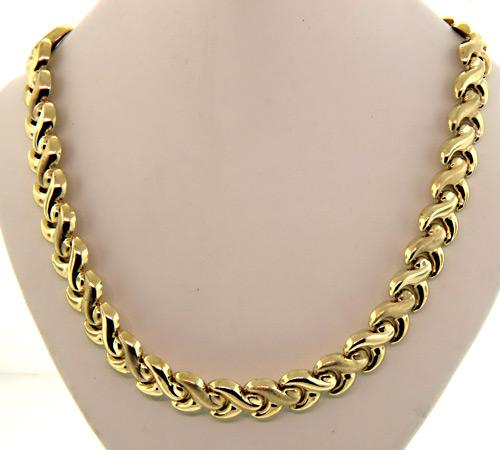 Stylish Gold Necklace, 34.5 Grams