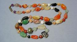 Colorful & Casual Natural Agate Necklace