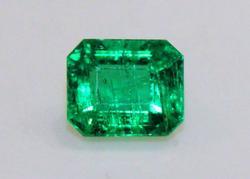 Sparkling Natural Emerald Octagon