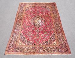 Hand Woven Semi Antique Persian Kashan 9.5x6.2
