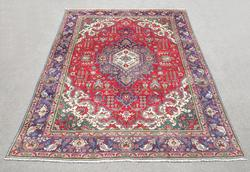 Hand Woven Semi Antique Persian Tabriz 11.3x8.2