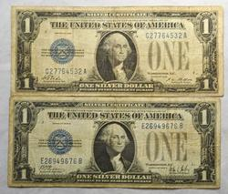 1928 and 1928 B Funnyback $1 Silver Certificates