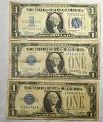 1928  1928 B and 1934 Funnyback $1 Silver Certificates