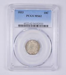 MS62 1833 Capped Bust Dime - PCGS Graded