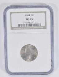 MS65 1904 Liberty V Nickel - NGC Graded