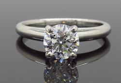 AGS Certified Platinum Diamond Solitaire
