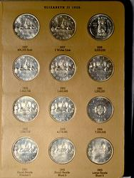 Complete Set Canada Silver Clad and Copper Dollars 1957-2000