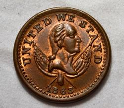 Choice 1863 Civil War Store Card token Broas Brothers Pie Bakers NY