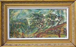 Beautiful Original 1963 Oil on Burlap by Shadian