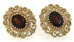 Most Striking Garnet Bezel Set Earrings