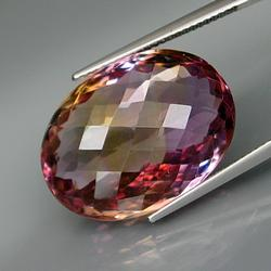 Tightly faceted 24.49ct checker top Ametrine