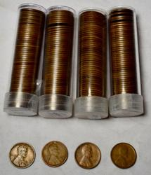 1921 S 1923 and 2 x 1929 S Lincoln Cent Circulated Rolls