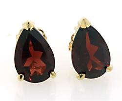 Timeless Fashion: Garnet Stud Earrings