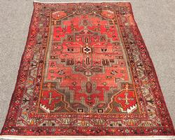 Fabulous Mid-20th C. Authentic Handmade Vintage Persian Ferahan