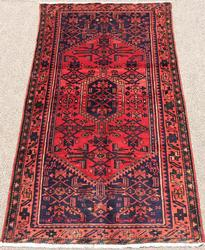 Simply Lovely Mid Century Authentic Handmade Vintage Persian Rug