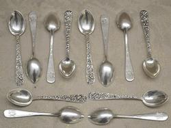 S. Kirk and Sons Repousse Demitasse Spoons