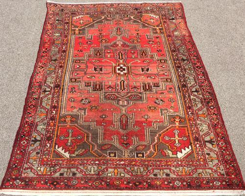 Enchanting Rare Mid-20th C. Authentic Handmade Vintage Persian Ferahan