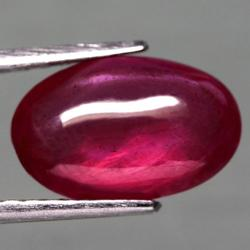 Sultry 4.69ct pinkish violet Ruby cabochon