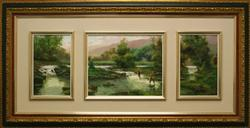 Stunning Triptych by Caballero
