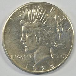 Rare Mint State 1928-P Peace Silver Dollar. Nice