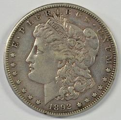 Extremely high grade 1892-S Morgan Silver Dollar. Rare