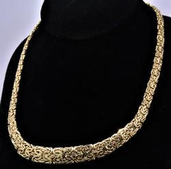 18.5 inch Byzantine Necklace, Yellow Gold