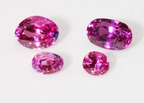 Yummy Natural Pink Sapphire - Lots of 4