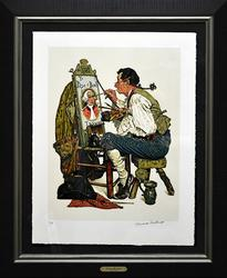 Sought After Norman Rockwell Signed Lithograph