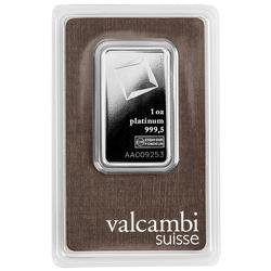 Valcambi One Ounce Platinum Bar