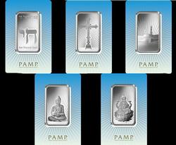 5pc 1oz Pamp Silver Bar Lot Religious Series