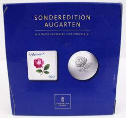Austrian .999 Silver Coin & Porcelain Stamp